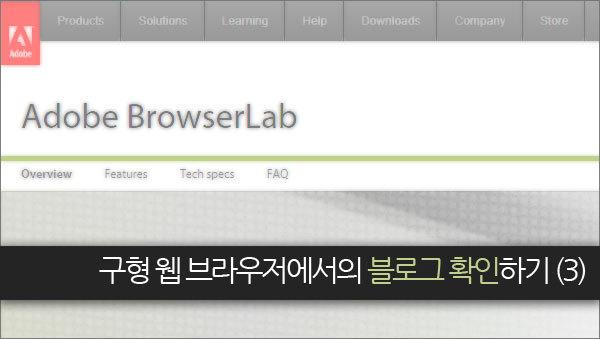 구형 웹 브라우저에서의 블로그 확인하기 (3) Adobe BrowserLab