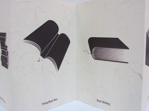 백(白). 세부 이름은 'Flying Book Bird', 'Book Binding'