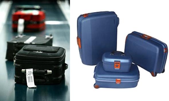 항공여행 가방은 단단한 소재로 만들어진 것이 좋다.