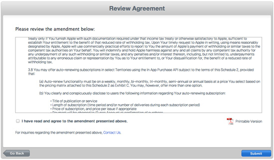 iOS Paid Applications Agreement, 새로운 iOS 유료 앱 계약 업데이트 3