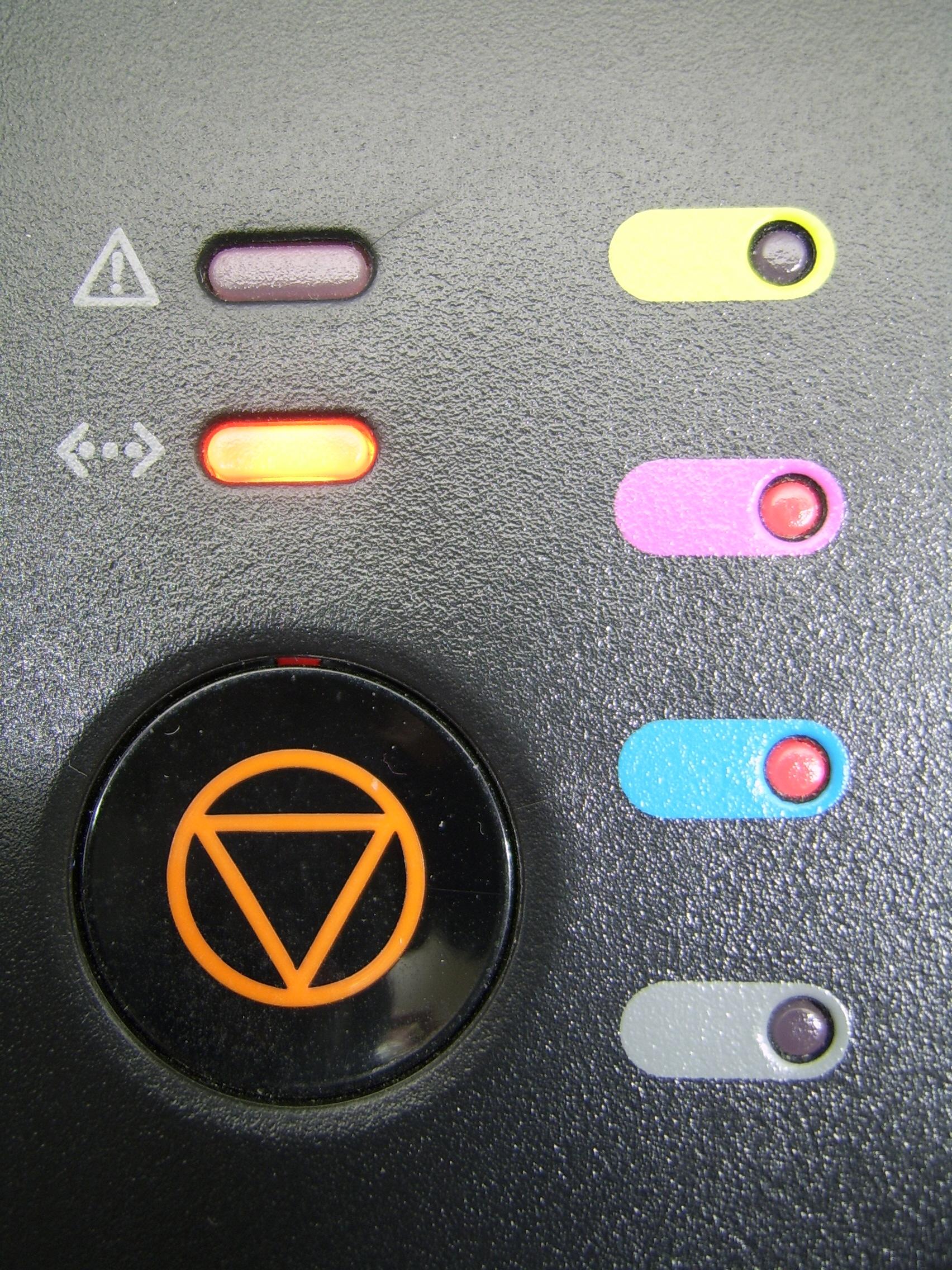 레이저프린터 CLP-315K 지시등