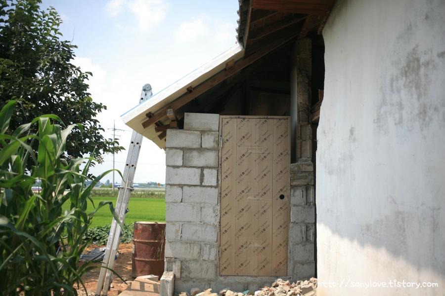 화장실 벽돌 쌓기