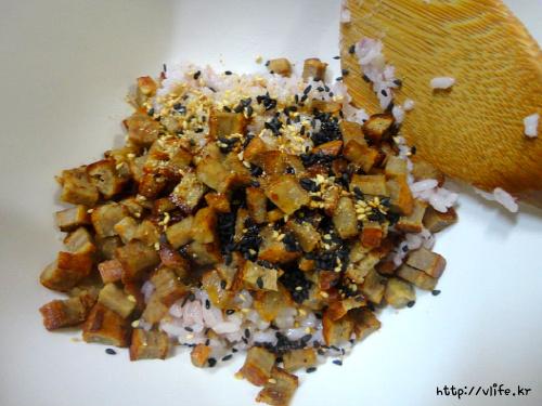 남은 김밥용 햄 활용