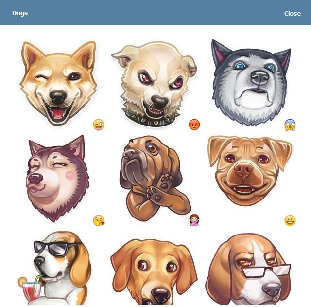 텔레그램 스티커 - Dog Collection