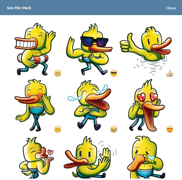 텔레그램 스티커 - Gus The Duck