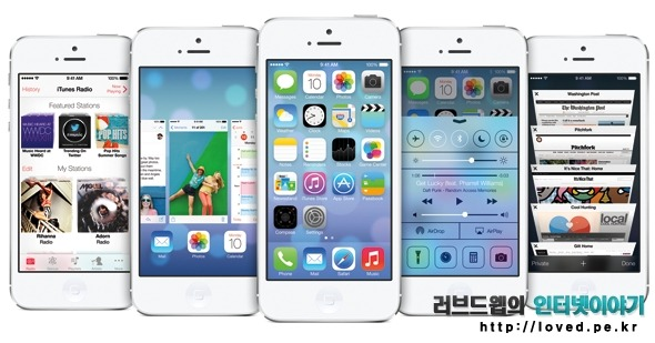 아이폰 iOS7, iOS7, 새로운 기능, iOS7 베타, 디자인