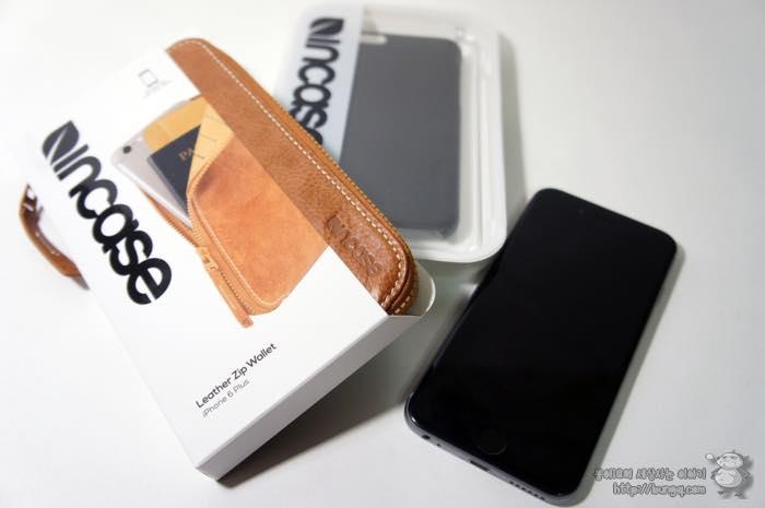 여권지갑으로 딱좋은 인케이스 아이폰6 레더집월렛(Leather Zip Wallet)