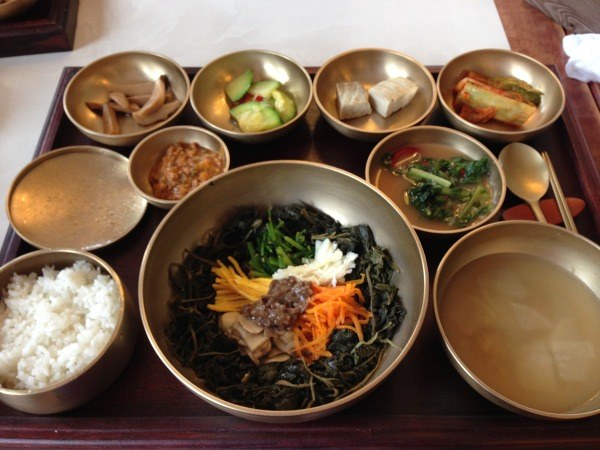 경주 불국사 점심 곤달비 비빔밥