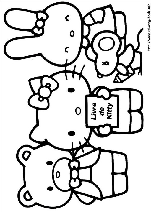 japanese hello kitty coloring pages - photo#43