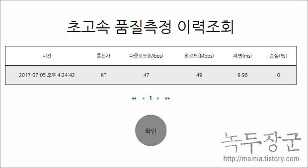 인터넷 속도 측정 하는 방법, 한국정보화진흥원 이용