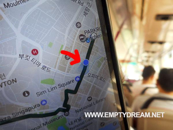 해외여행 시 구글지도로 현지 버스 이용하기 - 싱가포르 버스 예시