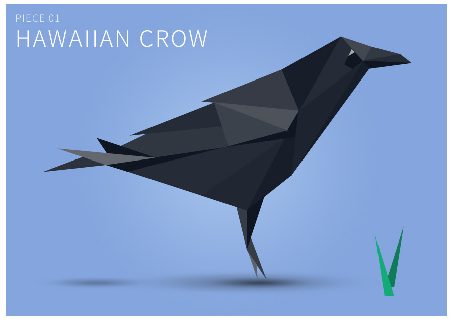 Piece 01 Hawaiian crow