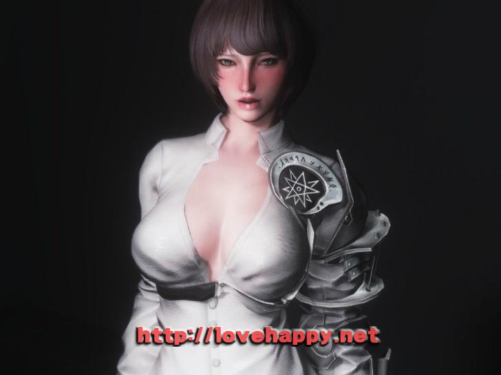 스카이림 의상 - 로그 의상 apex senior clothes hdt skyrim mod 001