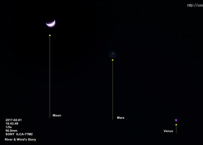 Moon,Mars,Venus