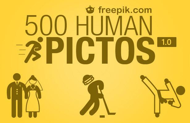 500 가지 무료 벡터 사람 아이콘_픽토그램 - 500 Free Vector Human Icons_Pictograms