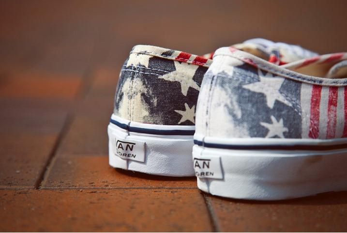 American Flag Vans Shoes Womens