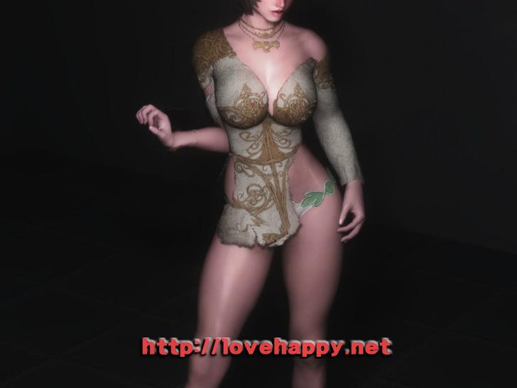 스카이림 의상 - 로그 의상 elika outfit clothes hdt skyrim mod 004