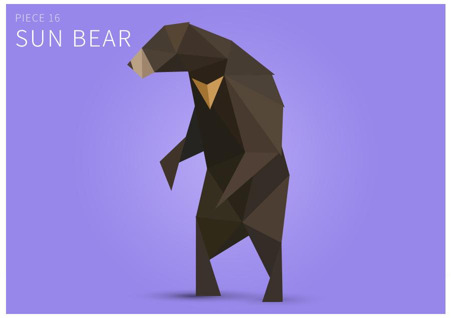 Piece 16 Sun bear