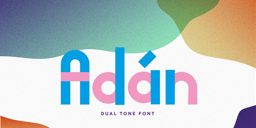 이중톤 무료 영문 폰트 Adan Free Duo-tone Typeface