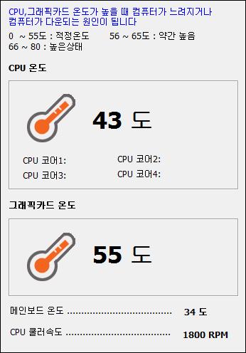 고클린 시스템 온도측정