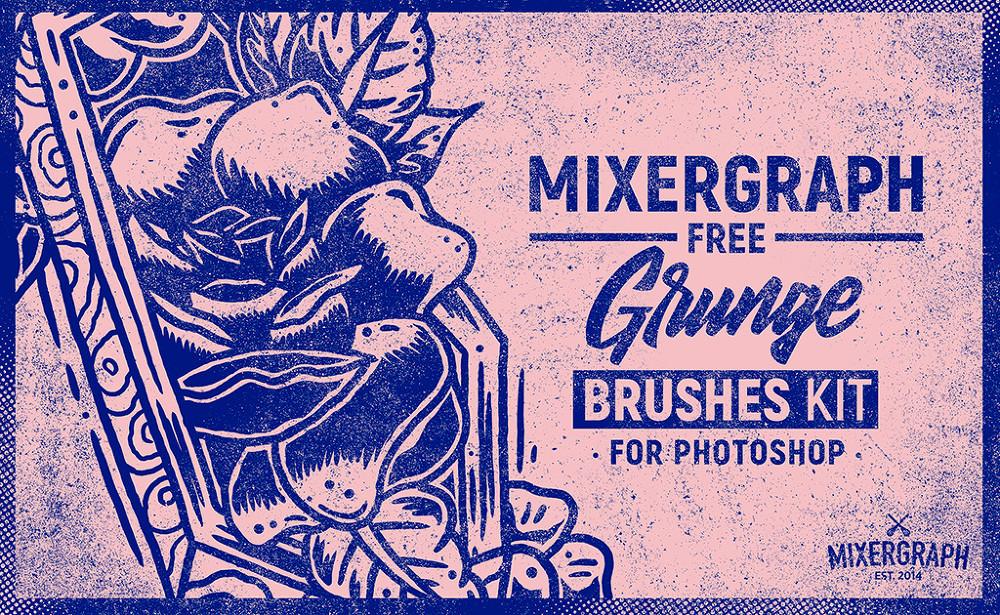 빈티지 느낌의 5 가지 무료 포토샵 그런지 브러쉬 - 5 Free Photoshop Grunge Brushes