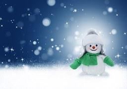 강추위 혹한의 한파 겨울 눈사람 장갑 눈 내리는 하얀 바람 추워 체감온도 캐릭터