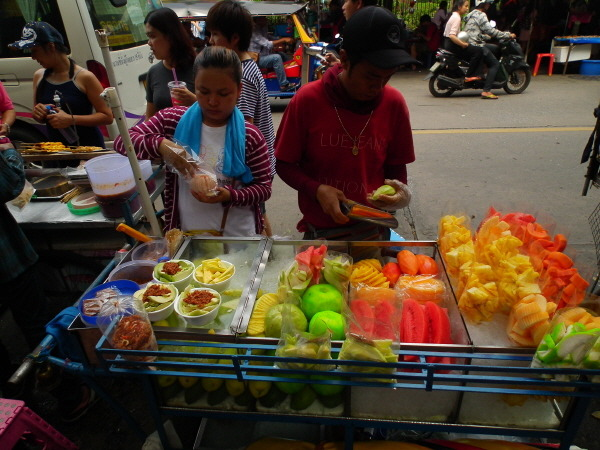태국 길거리 과일
