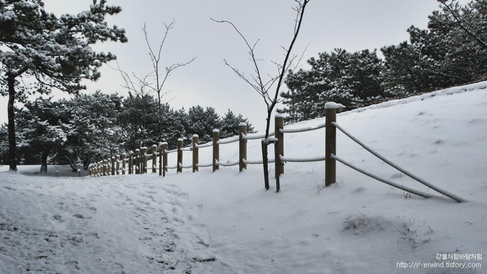 눈덮인 금정산