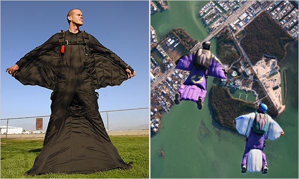 윙수트 (Wing Suit), Jeb Corliss <출처: NYC Times>