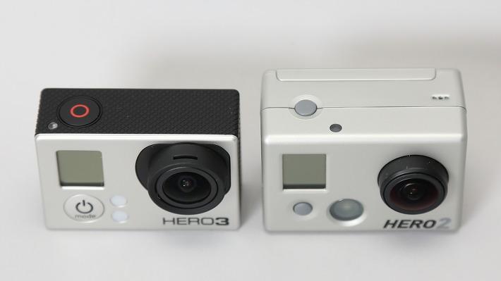 고프로3와 고프로2의 모습