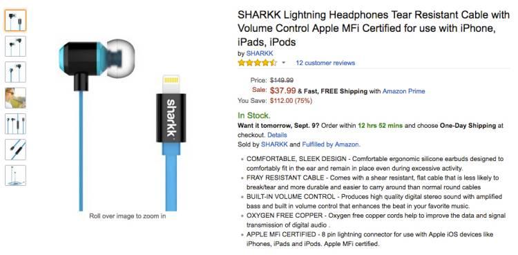 아이폰7, 플러스, 헤드폰, 이어폰, 라이트닝, lightning, 제품, 가격