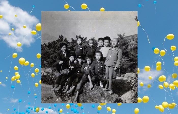 사진: 어린 시절의 노무현. 물 마시고 이쑤실만큼 너무도 가난한 가정환경이었다고 한다. [가난한 시골 소년 노무현입니다]