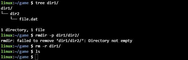 리눅스 rm -r 명령어 사용