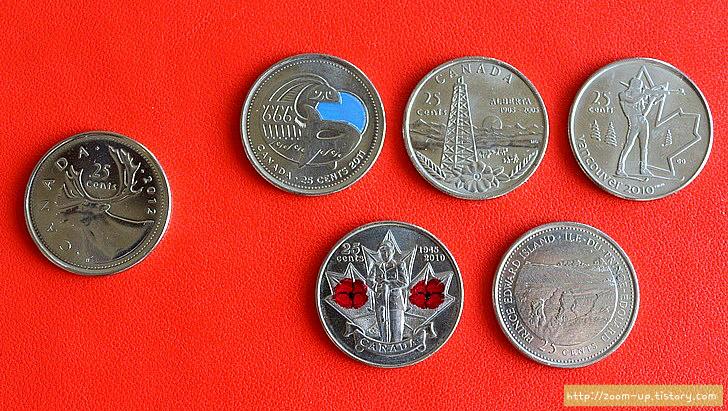 캐나다 역사와 동전 이야기 : 25센트 쿼터 기념동전