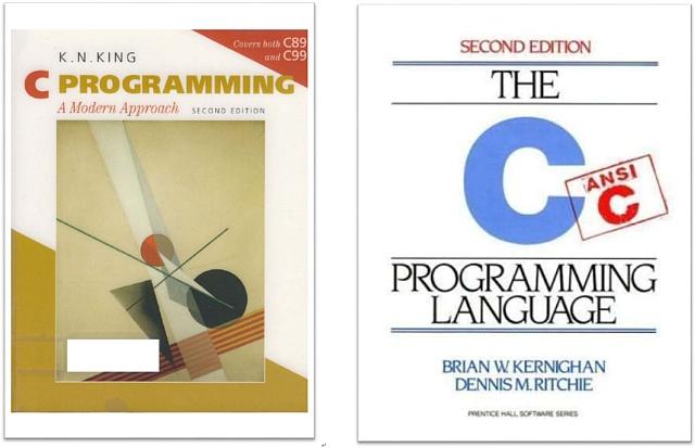 C언어 책 - KNK(좌) K&R(우)