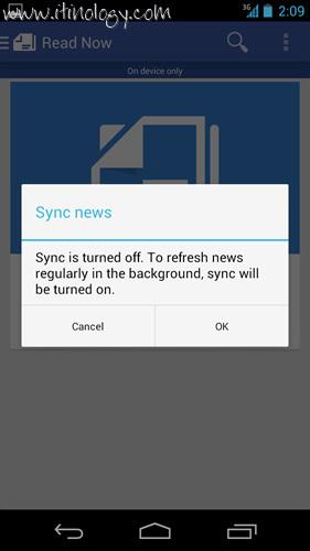Google Play Newsstand sync news