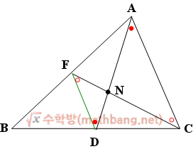 삼각형의 무게중심이 한 점에서 만나는 이유 증명 2