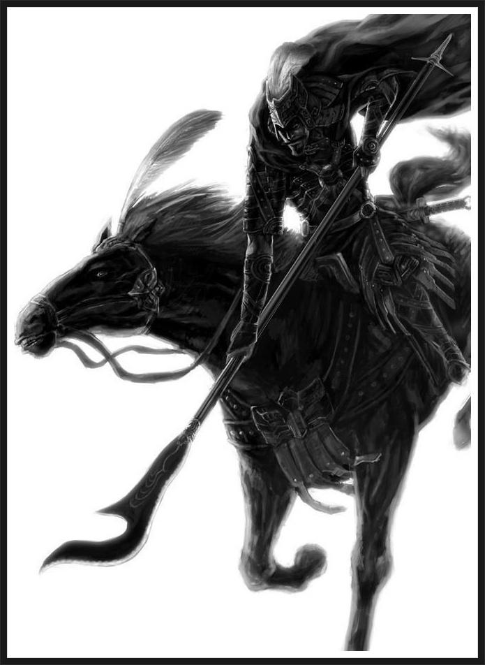 말을 탄 위나라 황제 염민