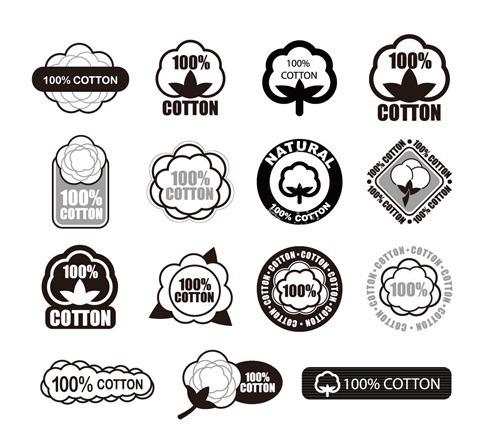 무료일러스트이미지 디자인소스 다운로드 :: 코튼소재/코튼 100% /면/코튼 로고/의류 로고 이미지