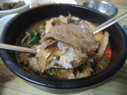 안동 현지인맛집 중앙신시장 옥야식당 선지국밥