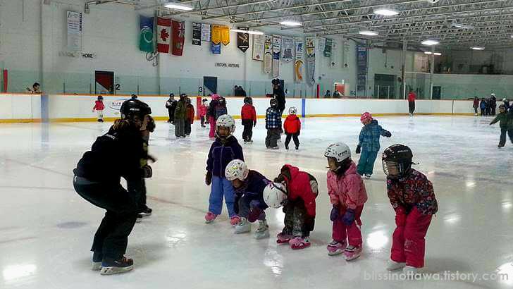 캐나다 문화센터 스케이트 레슨 입니다
