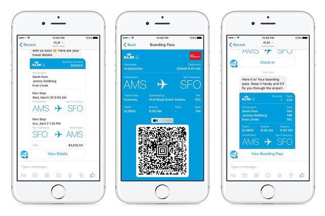 항공사 메신저 챗봇 서비스 사례