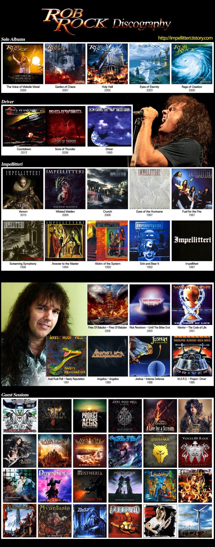 Rob Rock Discography (롭 락 디스코그라피)