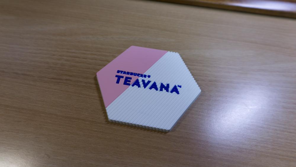 스타벅스 티바나 코스터 분홍색
