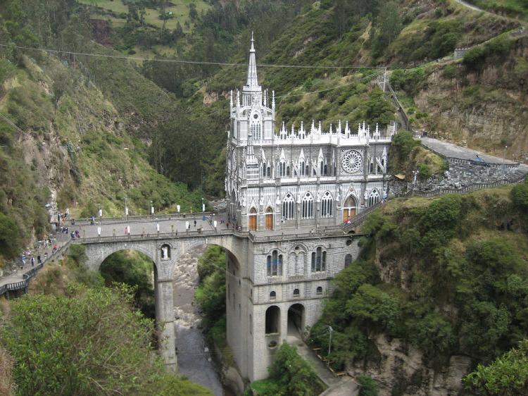 콜롬비아 라스 라하스 성당(Las Lajas Sanctuary)