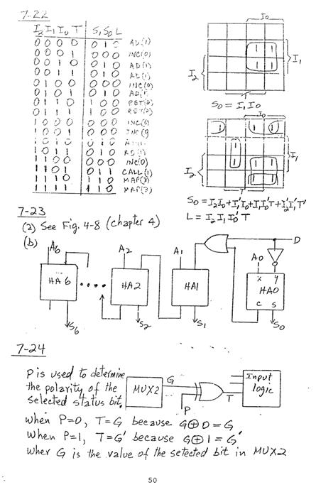 컴퓨터구조 연습문제, 모리스 마노 챕터7 50