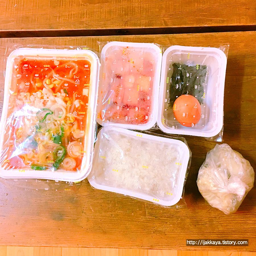 만두 김치 콩나물 국밥