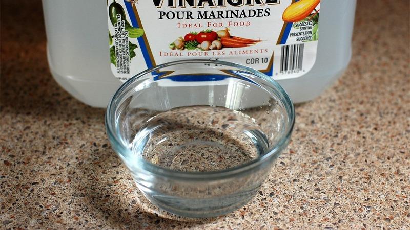 사진: 전기밥통에 반컵 정도의 식초를 부어 물과 함께 끓이면 된다.