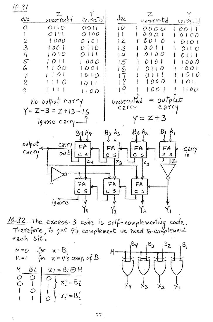 컴퓨터구조 연습문제, 모리스 마노 챕터10 77