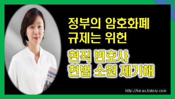'정부의 가상화폐 규제는 위헌' 현직 변호사 헌법소원 제기